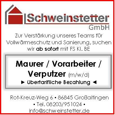 Jobs bei der Schweinstetter GmbH